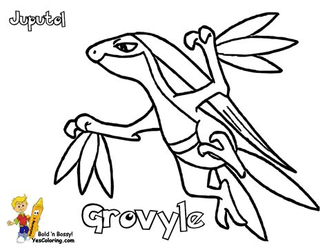 pokemon coloring pages grovyle run boy to coloring pages to print pokemon 10 treecko