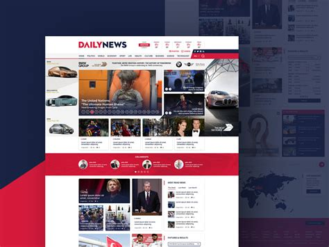 Free News And Magazine Website Template Free Psd At Freepsd Cc Magazine Site Template