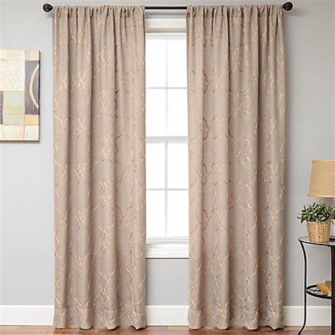 wheat curtains buy selma rod pocket 108 inch window curtain panel in