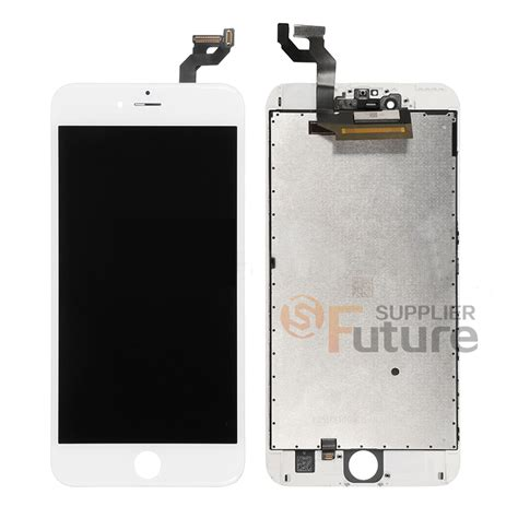 apple iphone 6s plus lcd digitizer assembly with frame white