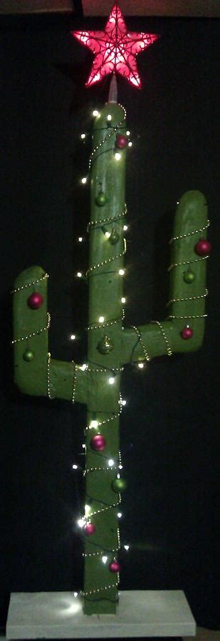 saguaro cactus christmas tree hand carved hand painted