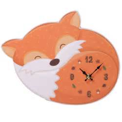 Kids Room Ideas funky fox design decorative wall clock