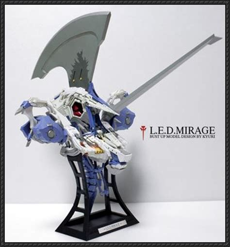 Papercraft Mecha - new paper craft five stories led mirage bust free
