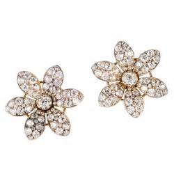 dimond earings she fashion club flower earrings