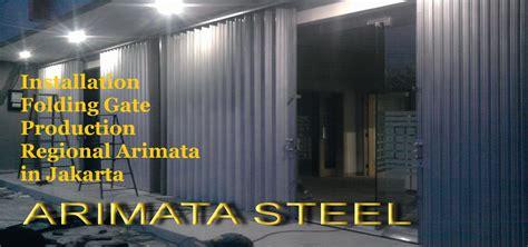 Folding Gate Pintu Pengaman harga folding gate murah untuk pemasangan pintu besi galvallum