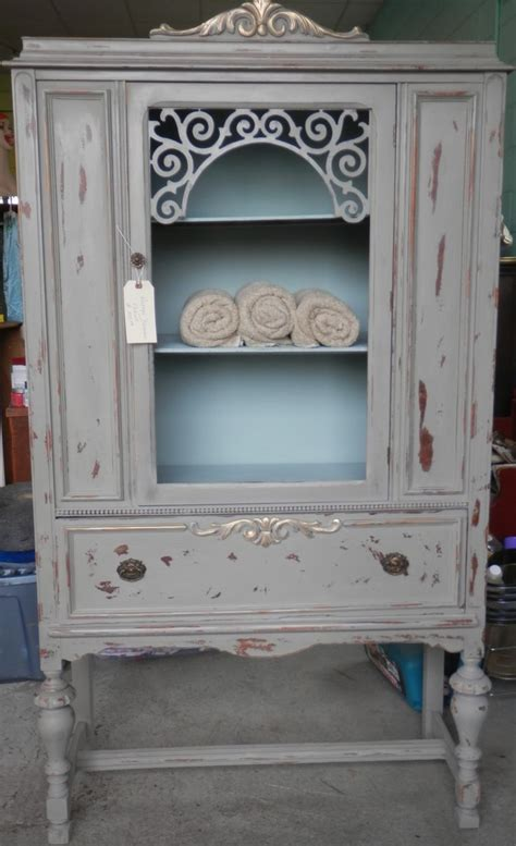Refinished Antique China Cabinet   Cabinets Design Ideas