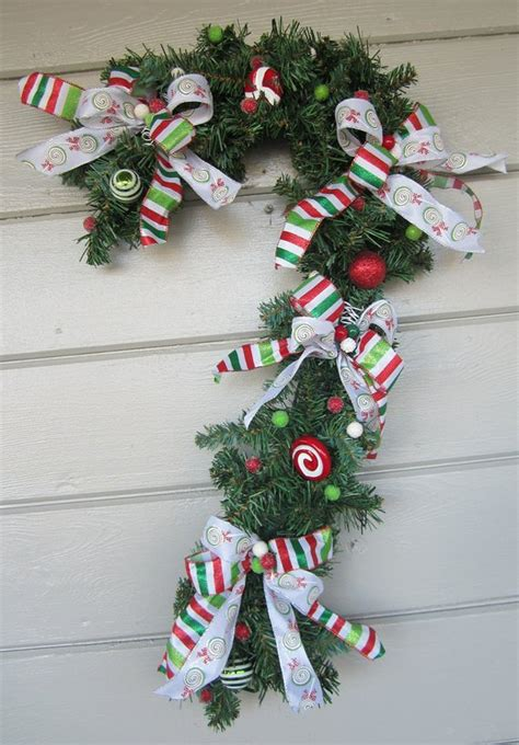 outdoor candycane ribbon items similar to wreath wreath decoration outdoor