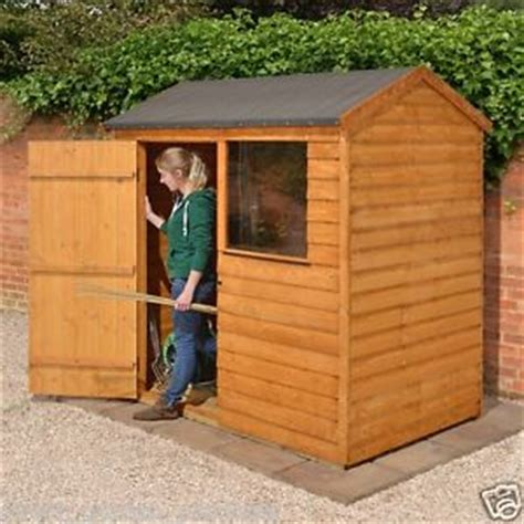 wooden storage sheds ebay 6x4 wooden garden shed storage apex wood sheds overlap