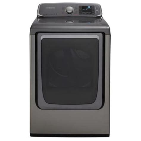 samsung 7 4 cu ft electric dryer with steam in platinum