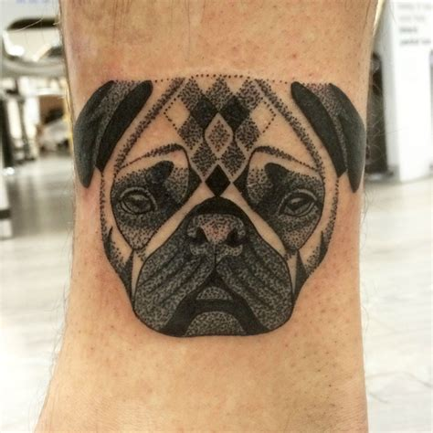 dotwork pug by lauren sutton redwood tattoo studio