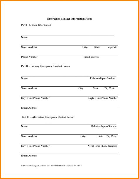 update contact information form template magnificent contact information form template images