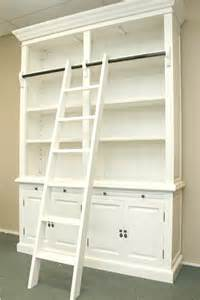 library style bookcase with ladder french provincial style library bookcase with ladder