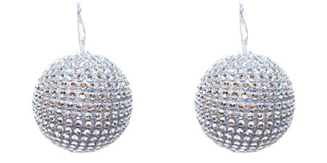 silver jeweled ball rhinestones christmas holiday