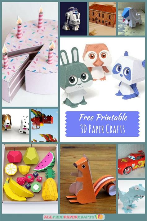 large craft paper printable 3d paper crafts www pixshark images