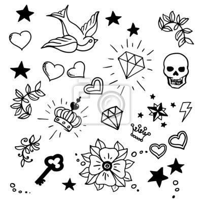 new school tattoo vector fotobehang swallow tattoo pixers nl