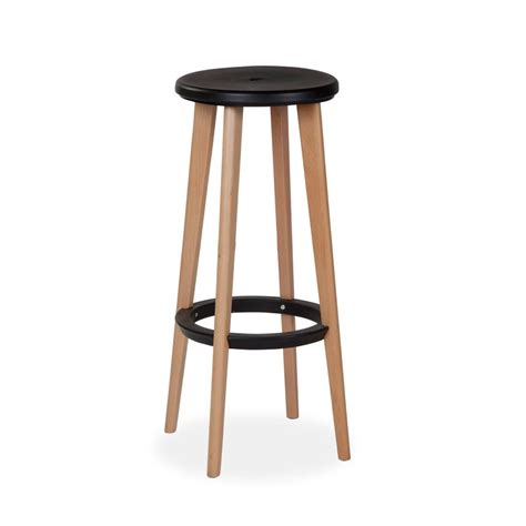 High Wooden Stool by Pac Klein Business Furniture