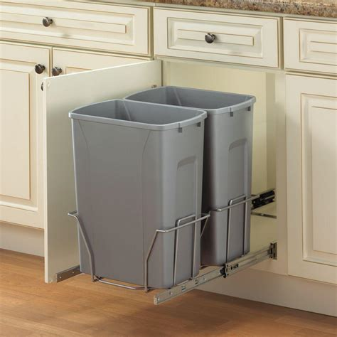 double trash can cabinet real solutions for real life 18 75 in h x 14 38 in w 22