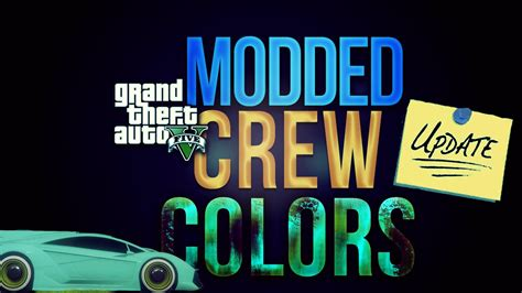 tutorial gta online ps4 gta 5 online xboxone ps4 how to get modded crew colors
