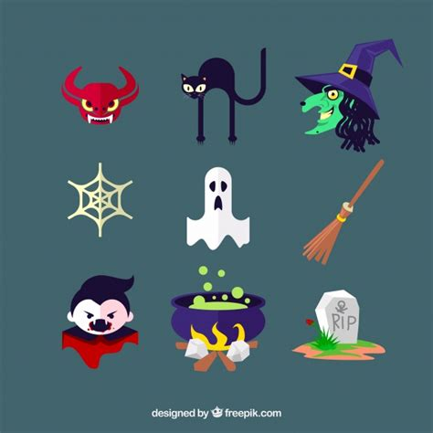 editor de imagenes halloween online halloween icons with typical characters and elements