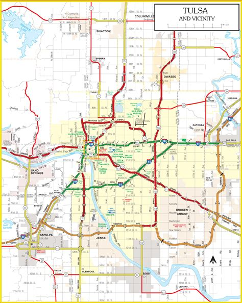 tulsa map current oklahoma state highway map