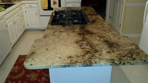 Granite Countertops Newport News Va by Granite Kitchen Island Countertop With Gas Glass Cooktop