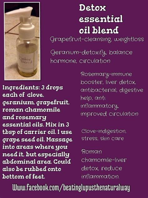 Essential Oils For Detoxing The by Detox Essential Blend Essentialoils Ourhealthylife