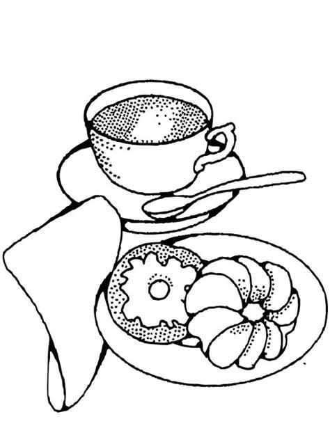 Coloriage Le Petit Déjeuner dessin gratuit à imprimer