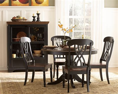 Homelegance Britanica Black Country Style Homelegance Ohana Dining Table Set By Oj Commerce 936 14 950 04