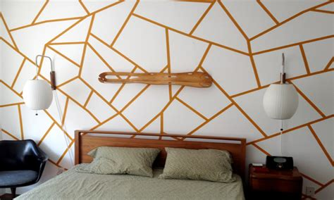 wallpaper bedroom ideas geometric wall designs with paint