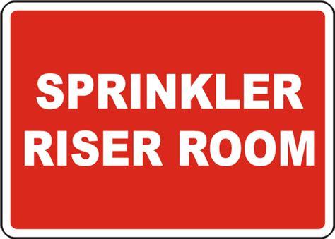 room signs for sprinkler riser room sign 25743 by safetysign