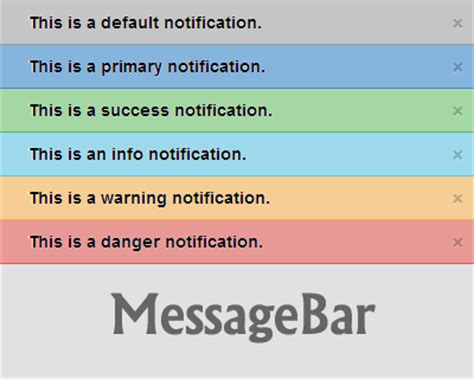 jquery top bar messagebar jquery plugin for top bar notification