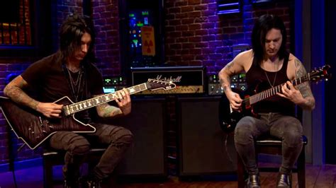 black veil brides coffin live black veil brides guitarists perform instrumental version