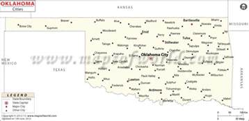 oklahoma map showing cities buy map of oklahoma cities