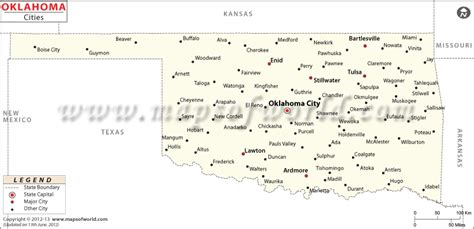 map oklahoma cities towns buy map of oklahoma cities