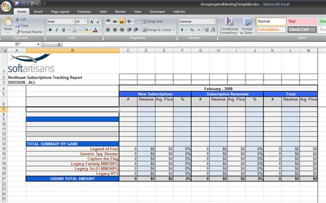 create excel template grouping and nesting sle excelwriter v8 docs