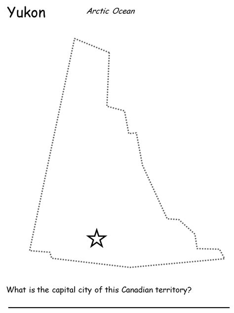 printable map of yukon canadian maps name the capital city