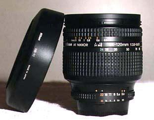 nikkor af 24 120mm 3.5 5.6 d lens with uv filter and hood