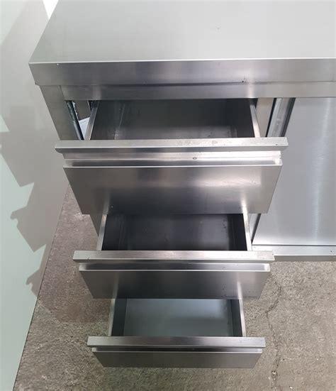 schublade edelstahl edelstahl arbeitstisch mit schubladen und schiebet 252 r 200x70x85