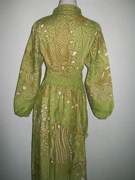 Gamis Mewah Inneke 020 Gm model rumah minimalis sederhana gamis batik wanita muslim modern batik printing bahan katun halus