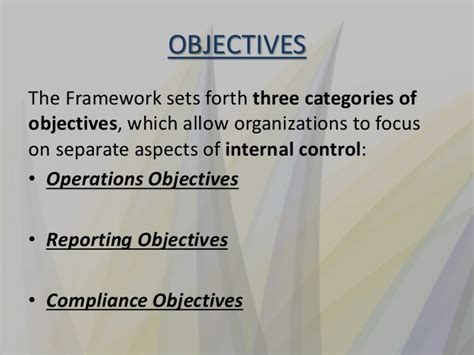 coso internal control integrated framework principles coso internal control integrated framework