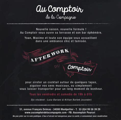 Au Comptoir De La Compagnie by Afterwork Au Comptoir De La Compagnie D 232 S Ce Vendredi