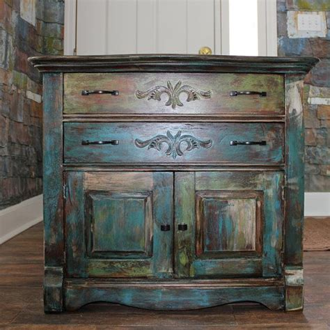 How To Paint Distressed Cabinets by Distressed Paint Vintage Oak Cabinet