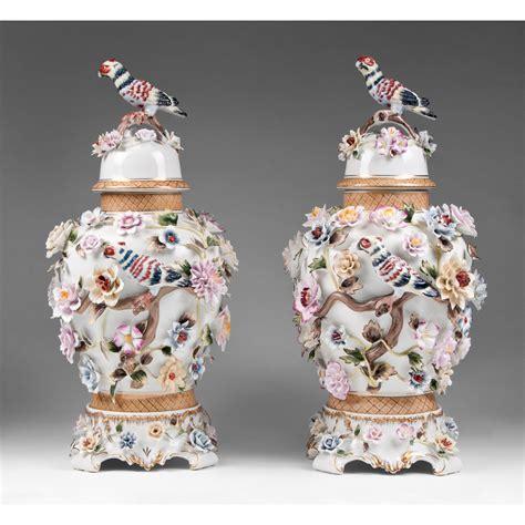 Vase Store Richard Klemm Dresden Porcelain Urns Floral And Bird