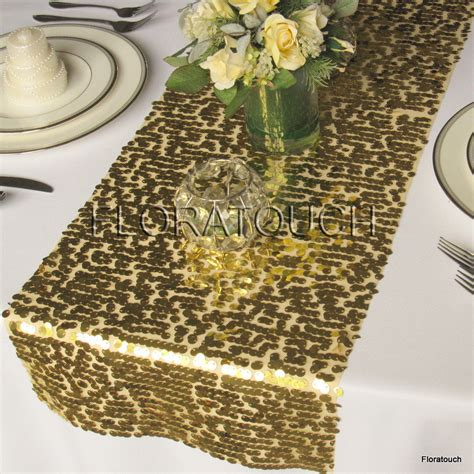 Gold Runners For Tables by Gold Sparkling Sequin Table Runner Wedding Table By Floratouch