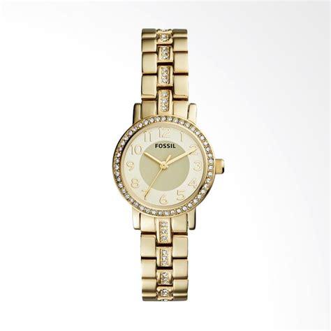 Jam Tangan Wanita Fossil Bq3261 jual fossil bq 1428 shae three tone stainless steel jam tangan wanita gold harga