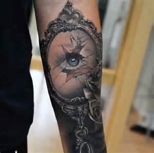 tattoo eye in the broken mirror ideas tattoo designs
