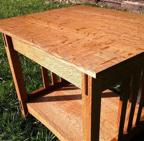 quarter sawn oak table quarter sawn oak end table by luke lumberjocks com