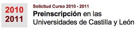 notas de corte universidad de burgos notas de corte 2010 11 universidades de castilla y le 243 n