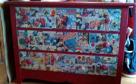 Decoupage Comics - decoupaged comic book dresser mysistersgarage