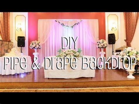 diy pipe & drape backdrop in 4 easy steps youtube